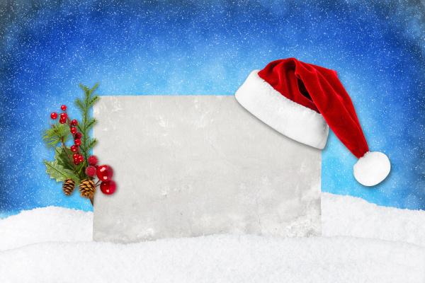 xmas, karta, niebieski, śnieg - 10410689