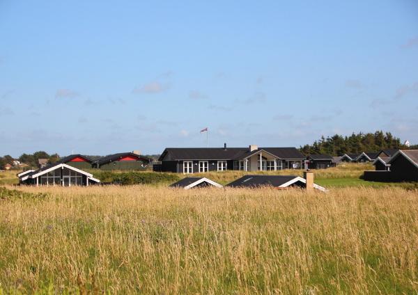 niebieski domy horyzont urlop urlop wypoczynkowy