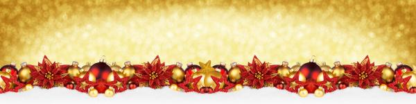christmas garland super szeroki czerwony zloty
