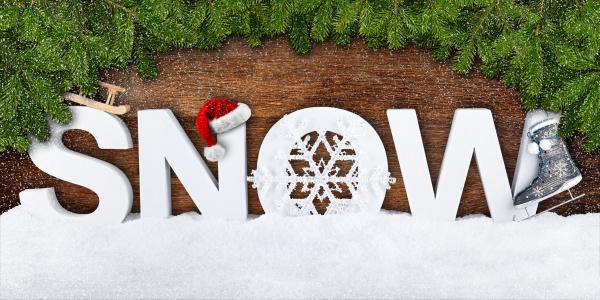 napis snieg