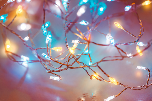 tło, światełek, świątecznych - 27688629
