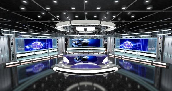 virtual, tv, studio, news, set, 1. - 28215713
