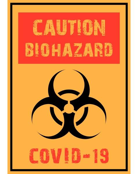 znak, ostrzegawczy, covid, -19 - 28215873