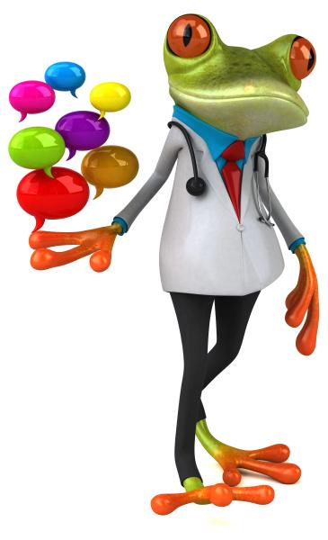 frog, doctor, -, 3d, illustration - 28217428
