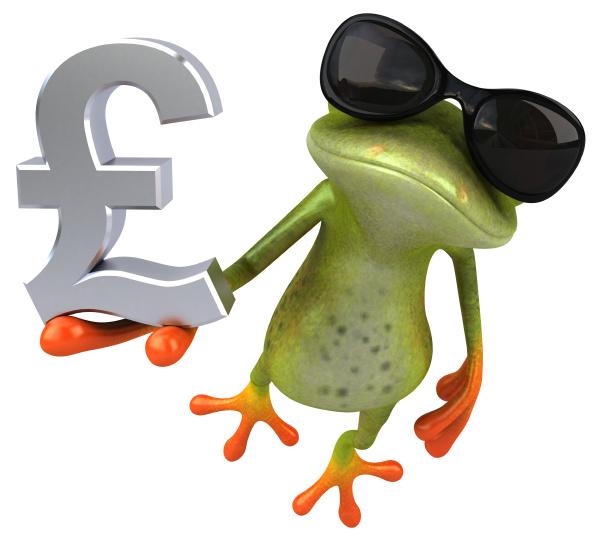 zabawna, żaba, -, ilustracja, 3d - 28217394