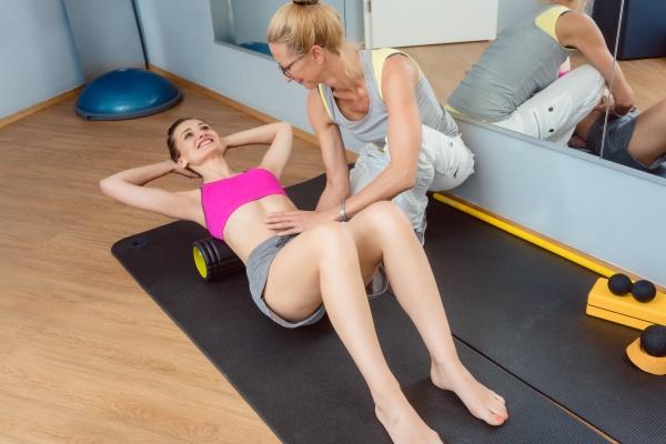 trening powieziowy na plecach podczas fizykoterapii