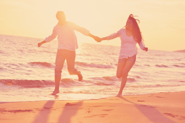 young, couple, , on, beach, have - 30104290