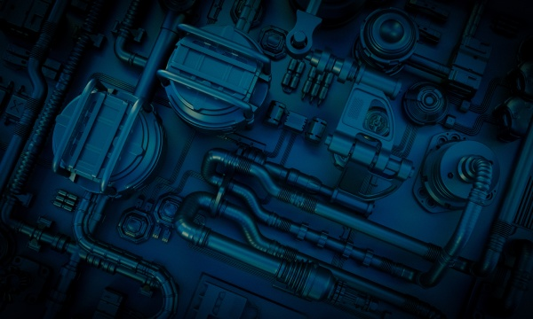 obraz tla sci fi z rurami