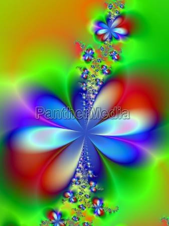 niebieski eksperyment grafika kwiat kwiatek zawod