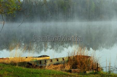 mgla nastroj francja poranek krajobraz natura