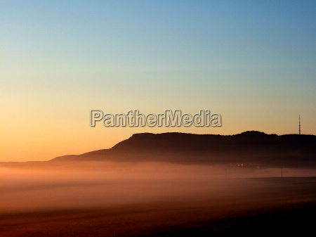 niebieski pole mgla nastroj firmament niebo