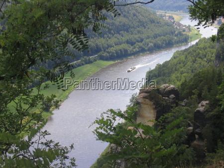 saksonia laba bastei river rzeka aqua