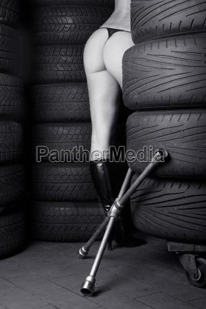 kobieta womane baba buty samochod automobil