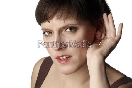 kobieta, słyszy - 519561