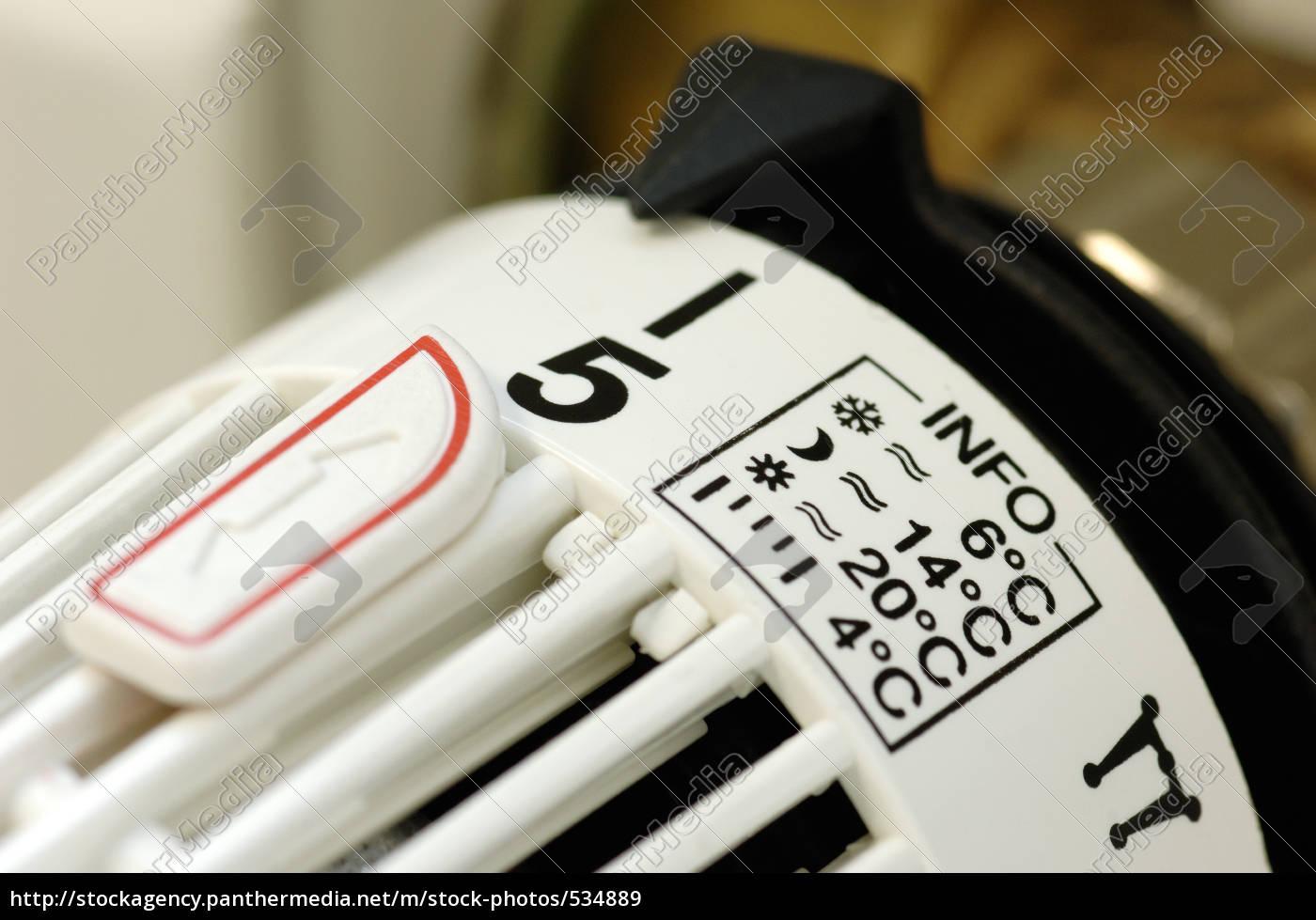 termostat, ogrzewanie, z, ustawieniem, informacji - 534889