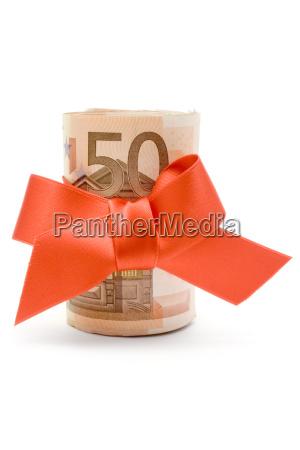 50 euro money prezent