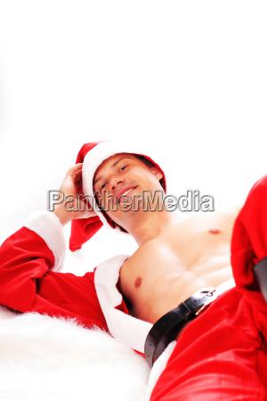 nago naked naga father christmas swiety