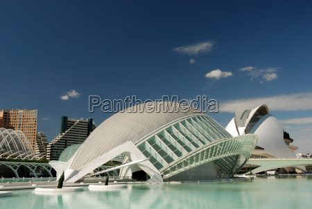 futurystyczne budynki w walencji