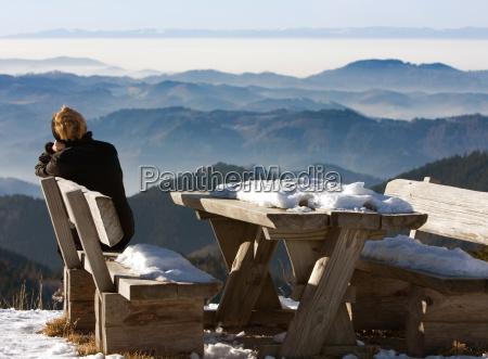 kobieta womane baba relaks zima zimowy