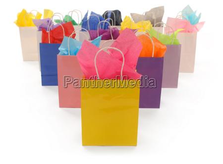 konsumpcja zakupy torby zuzycie kolorowe