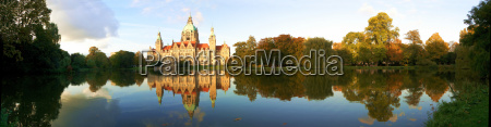 nowy ratusz w hanowerze panorama