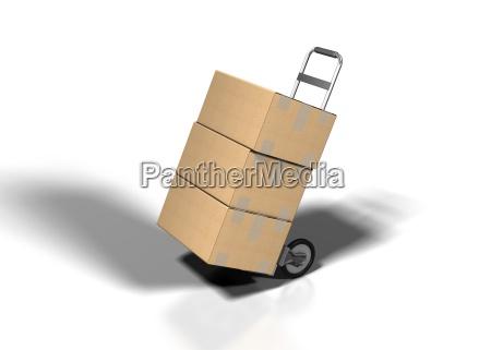 pakiety paczki kartony cien cienie pakunek