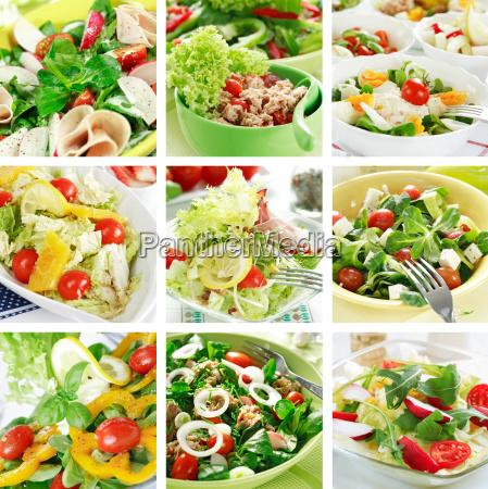 zdrowe salatki kolaz