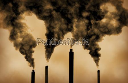 emisje zanieczyszczen z fabryki globalnego ocieplenia