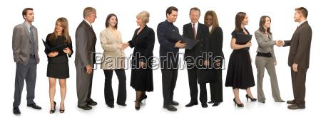 jedenascie professionals on white