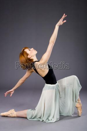 young ballet dancer posing