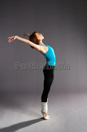 ballet dancer practising