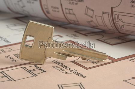 building construction plan key