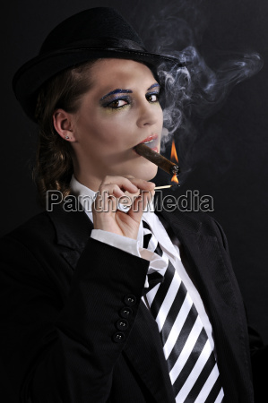 lady with cigar
