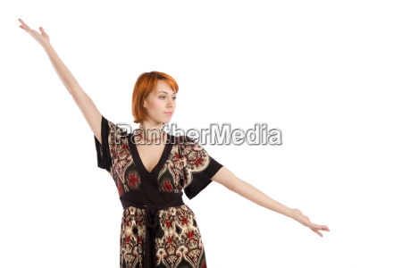 fasion woman presenting pose