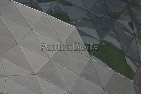 architectural detail of bmw welt
