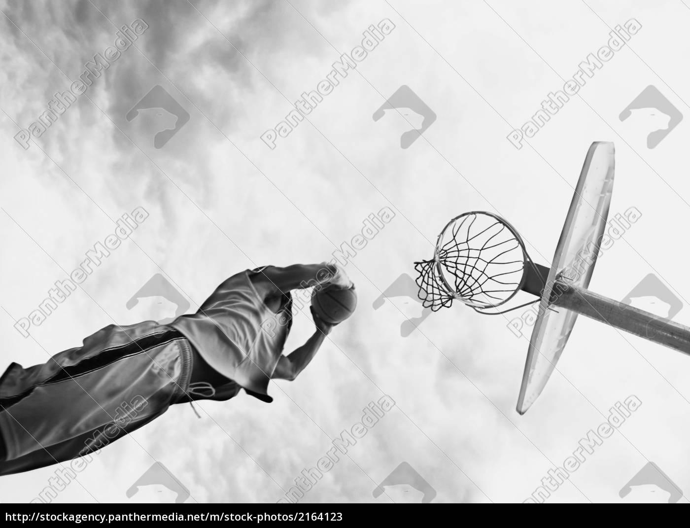 człowiek, gra, w, koszykówkę - 2164123