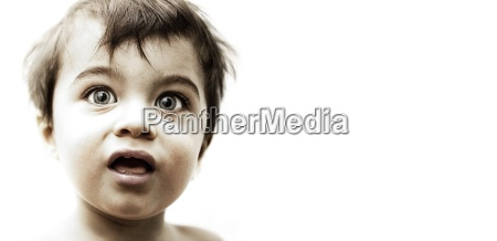 male child with large eyes