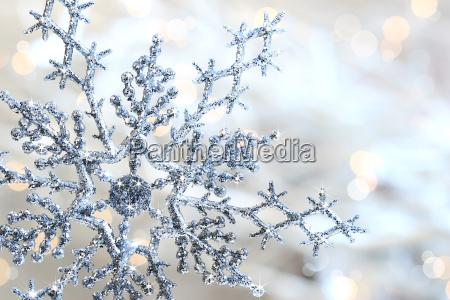 srebro niebieski sniegu
