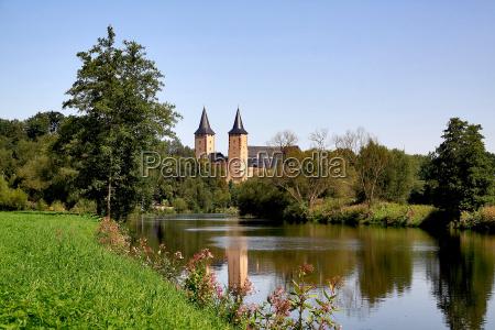 wody lato letni reflection river rzeka