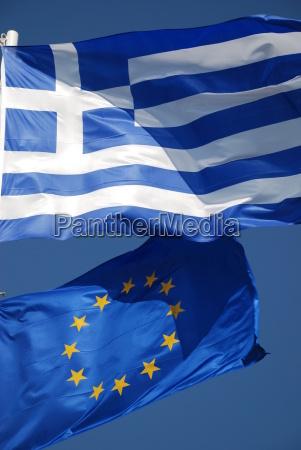 greece europe flag flag banner