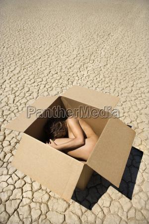 nude woman in desert