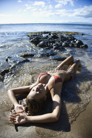 kobieta na maui beach