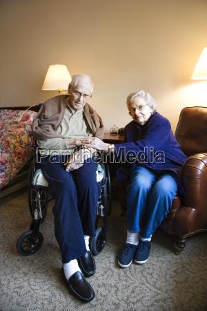elderly caucasian couple