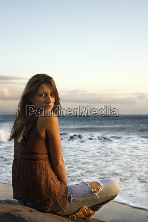 woman on maui beach