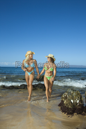 bodybuilders at beach