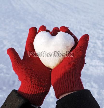 zima zimowy rekawiczki kalina liebhaben milosc