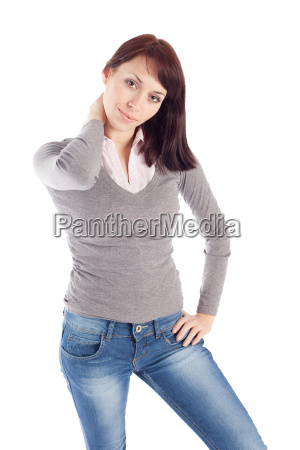 young woman in relaxed pose