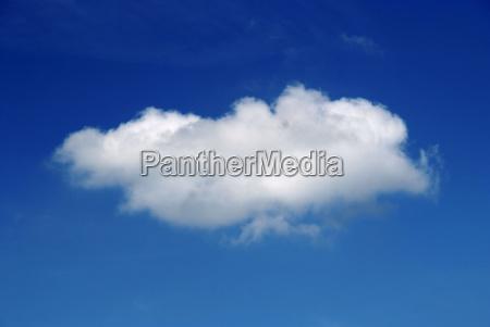 blekitne niebo chmura