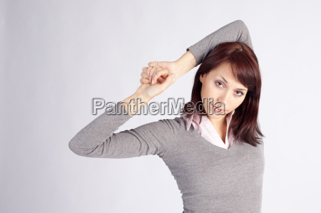 young pretty woman in relaxed pose