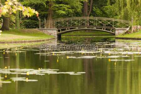 channel in the castle park with